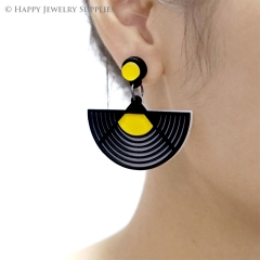 2pcs (1 Pairs) Laser Cut Acrylic Bohemia Geometry Earring Jewelry AGE08