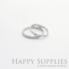 Set 2 Sterling Silver (SS26) dotted skinny stacking rings