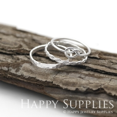 Set 3 Sterling Silver (SS17) dotted skinny stacking rings