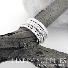 Set 5 Sterling Silver (SS11) dotted skinny stacking rings