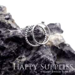 Set 2 Sterling Silver (SS14) dotted skinny stacking rings
