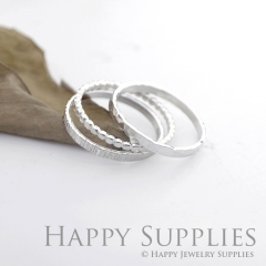 Set 3 Sterling Silver (SS20) dotted skinny stacking rings