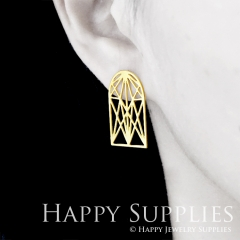 1pair Geometry Golden Silver Rose Golden Brass Earring Post Finding With Ear Studs Back Stoppers ZEN305
