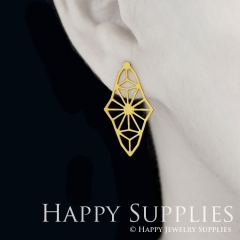 1pair Geometry Golden Silver Rose Golden Brass Earring Post Finding With Ear Studs Back Stoppers ZEN304