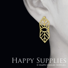 1pair Geometry Golden Silver Rose Golden Brass Earring Post Finding With Ear Studs Back Stoppers ZEN309