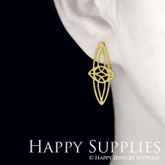 1pair Geometry Golden Silver Rose Golden Brass Earring Post Finding With Ear Studs Back Stoppers ZEN308