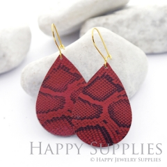Genuine Leather Teardrop for Earrings, DIY Embossed Boho Teardrop Die Cut, Teardrop Shapes, Earing Accessories (LET41)