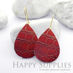 Genuine Leather Teardrop for Earrings, DIY Embossed Boho Teardrop Die Cut, Teardrop Shapes, Earing Accessories (LET37)