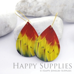 Genuine Leather Teardrop for Earrings, DIY Embossed Boho Teardrop Die Cut, Teardrop Shapes, Earing Accessories (LET48)