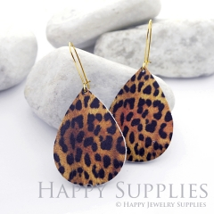 Genuine Leather Teardrop for Earrings, DIY Embossed Boho Teardrop Die Cut, Teardrop Shapes, Earing Accessories (LET40)
