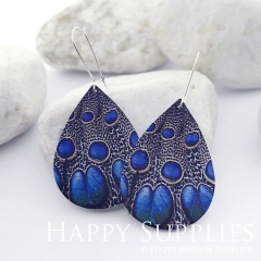 Genuine Leather Teardrop for Earrings, DIY Embossed Boho Teardrop Die Cut, Teardrop Shapes, Earing Accessories (LET51)