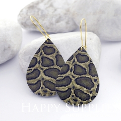 Genuine Leather Teardrop for Earrings, DIY Embossed Boho Teardrop Die Cut, Teardrop Shapes, Earing Accessories (LET50)