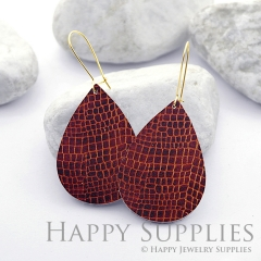 Genuine Leather Teardrop for Earrings, DIY Embossed Boho Teardrop Die Cut, Teardrop Shapes, Earing Accessories (LET54)
