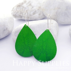Genuine Leather Teardrop for Earrings, DIY Embossed Boho Teardrop Die Cut, Teardrop Shapes, Earing Accessories (LET49)