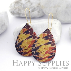 Genuine Leather Teardrop for Earrings, DIY Embossed Boho Teardrop Die Cut, Teardrop Shapes, Earing Accessories (LET44)