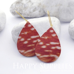 Genuine Leather Teardrop for Earrings, DIY Embossed Boho Teardrop Die Cut, Teardrop Shapes, Earing Accessories (LET52)