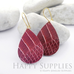 Genuine Leather Teardrop for Earrings, DIY Embossed Boho Teardrop Die Cut, Teardrop Shapes, Earing Accessories (LET38)