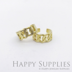 1pcs (RAQ09-S) Handmade Raw Brass Statement Ring, Adjustable Unisex fashion Jewelry, Open Band Ring