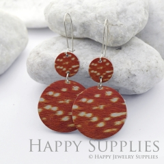 Genuine Leather Double Round for Earrings, DIY Embossed Boho Round Die Cut, Round Shapes, Earing Accessories (DRR04)