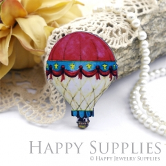 2Pcs Mini Handmade Wooden Laser Cut Balloon Charms / Pendants