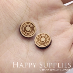 4pcs DIY Laser Cut Wooden Doughnut Charms SWC283