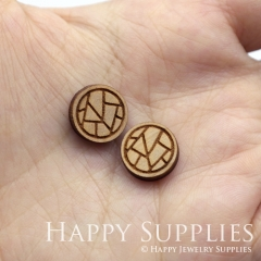 4pcs DIY Laser Cut Wooden Ball Charms SWC288