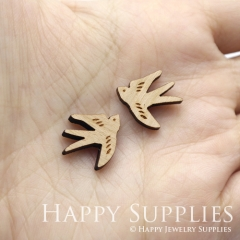 4pcs DIY Laser Cut Wooden Swallow Charms SWC285