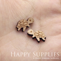 4pcs DIY Laser Cut Wooden Turtle Charms SWC276