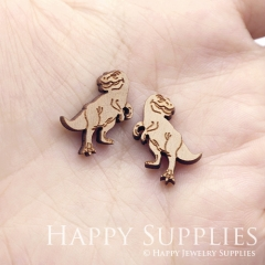4pcs DIY Laser Cut Wooden Dinosaur Charms SWC295