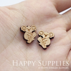 4pcs DIY Laser Cut Wooden Koala Charms SWC268