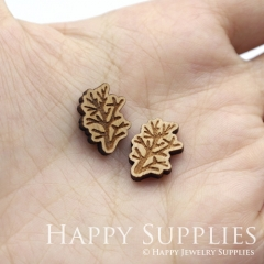 4pcs DIY Laser Cut Wooden Tree Charms SWC264