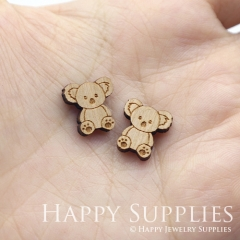 4pcs DIY Laser Cut Wooden Kolar Charms SWC267