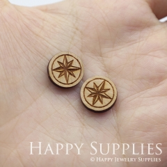 4pcs DIY Laser Cut Wooden Star Charms SWC266