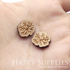 4pcs DIY Laser Cut Wooden Tree Charms SWC300