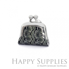 1pcs Snake Texture Handmade Tiny Silver Photo Leather Purse Pendant Necklace QW103-S