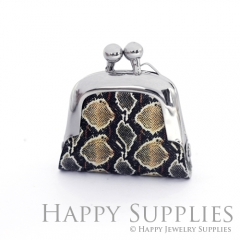 1pcs Snake Skin Handmade Tiny Silver Photo Leather Purse Pendant Necklace QW126-S