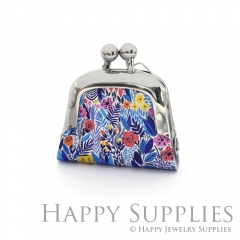 1pcs Flower Handmade Tiny Silver Photo Leather Purse Pendant Necklace QW124-S