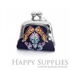 1pcs Tigers Handmade Tiny Silver Photo Leather Purse Pendant Necklace QW119-S
