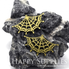 2pcs Raw Brass Paint Black Lace Geometric Charm / Bar Pendant, Fit For Necklace, Earring (BB27)