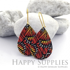 Genuine Leather Teardrop for Earrings, DIY Embossed Boho Teardrop Die Cut, Teardrop Shapes, Earing Accessories (LET62)
