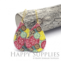 Genuine Leather Teardrop for Earrings, DIY Embossed Boho Teardrop Die Cut, Teardrop Shapes, Earing Accessories (LET75)