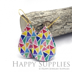 Genuine Leather Teardrop for Earrings, DIY Embossed Boho Teardrop Die Cut, Teardrop Shapes, Earing Accessories (LET77)