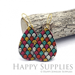 Genuine Leather Teardrop for Earrings, DIY Embossed Boho Teardrop Die Cut, Teardrop Shapes, Earing Accessories (LET71)