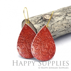 Genuine Leather Teardrop for Earrings, DIY Embossed Boho Teardrop Die Cut, Teardrop Shapes, Earing Accessories (LET79)