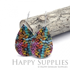 Genuine Leather Teardrop for Earrings, DIY Embossed Boho Teardrop Die Cut, Teardrop Shapes, Earing Accessories (LET80)