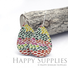 Genuine Leather Teardrop for Earrings, DIY Embossed Boho Teardrop Die Cut, Teardrop Shapes, Earing Accessories (LET78)