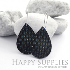 Genuine Leather Teardrop for Earrings, DIY Embossed Boho Teardrop Die Cut, Teardrop Shapes, Earing Accessories (LET67)