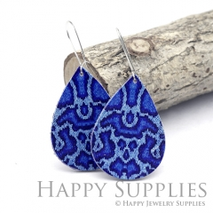 Genuine Leather Teardrop for Earrings, DIY Embossed Boho Teardrop Die Cut, Teardrop Shapes, Earing Accessories (LET89)