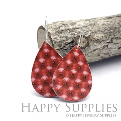 Genuine Leather Teardrop for Earrings, DIY Embossed Boho Teardrop Die Cut, Teardrop Shapes, Earing Accessories (LET76)