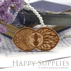 2Pcs Handmade Mysterious Ancient Rome Laser cut Face Wooden Charms,Wooden Pendants,Earring Pendant Charm,Necklace Pendant Charm(BWP02-C)